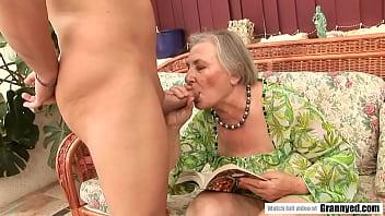 Granny Margot tasting a dick after decades thumbnail