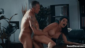 Cock hungry MILF Silvia Saige visits her husband in his office they started a passionate sex on his office desk.