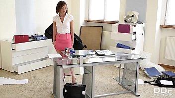 Dominant Boss Brandy Smile Analyzes submissive Tina Hot thumbnail