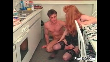 Slutty mature redhead gets that wet