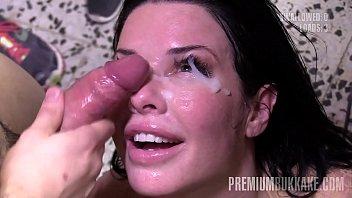 Premium Bukkake - Veronica Avluv swallows 61 huge mouthful cumshots 10 min