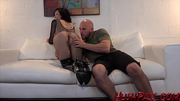 Harlow gets fucked HARD in her Fishnets and Boots