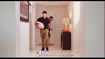 Netherlands gay porno sites Manroyale - archer tests his new dildo with the delivery guy
