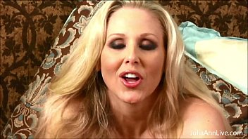 Busty Milf Julia Ann All by Herself in Stockings!