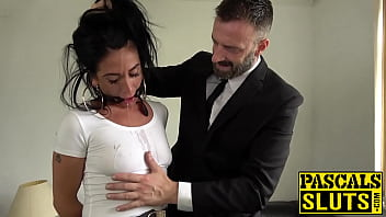 Sub bimbo throat fucked before severe doggystyle