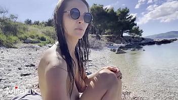 Busty Milaluv got caught on Public Beach - 4K60fps 16 min
