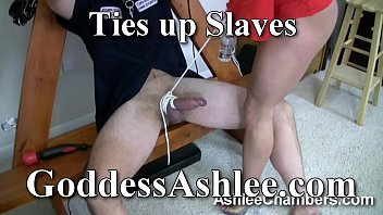 Goddess Ashlee Ties up slaves