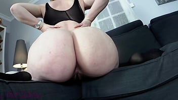 Step Mom In sexy Lingerie seduces son with her huge Ass!