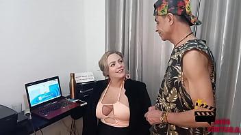 Naughty secretariat fucks new oficeboy *Myke Brasil