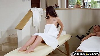 MILF masseuse gives couple an unforgettable massage a trios Image