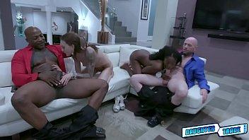 Ebony tenn Anne Amari sucking a mature white dick