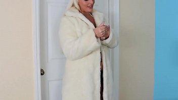 POV Blonde MILF With Big Tits Strokes Big Cock Image
