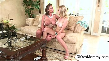 Stepmom Eva Notty raids for sex to teen Alli Rae and her bf thumbnail