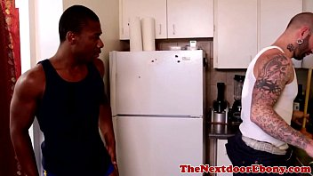 Free interacial gay pics Ebony jock fucked with hard white meat