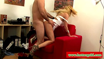 Portuguese blonde slut nailed doggystyle