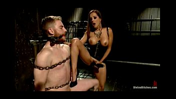 Slaveboy heartlessly strap on fucked by this kinky dom