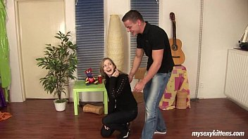 Sweet teen Abby gets fucked and jizzed