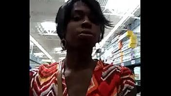 Tristina Millz Walking In Walmart