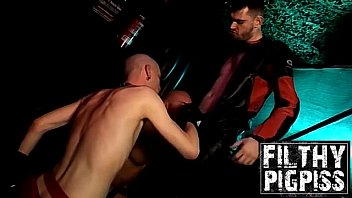 Gold coast gay night life - Hardcore pissing and anal 3some with horny biker men
