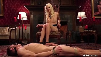 Dick acrylics Busty blonde dom rides face to slave