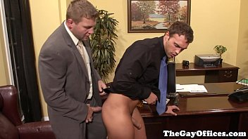 Fetish gay uniform Office sex with muscle boss colby jansen