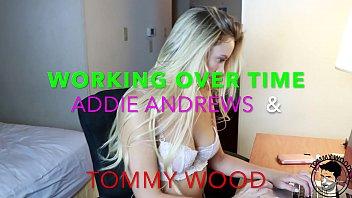 WORKING OVER TIME - HOT VICTORIA SECRET model ADDIE ANDREWS