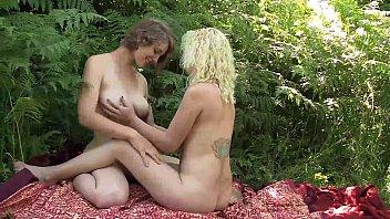 Sexy Lesbians Ruby And Mira Masturbating Their Twats porn image