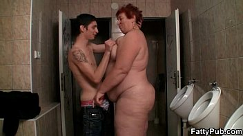 Bbw sex woman - Enormous woman takes it in the public restroom