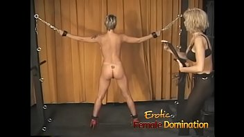 Blonde slave with a hot body dominated by a kinky milf thumbnail