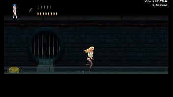 Pretty blonde girl hentai having sex with zombies men and girl in Parasite in City action hentai ryona game