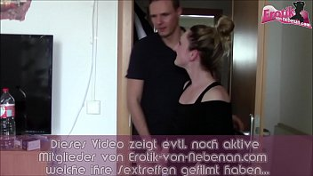 Ugly german wife cheat on with neighbor guy and have saggy tits