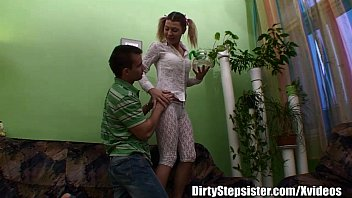 Ponytailed Blonde Stepsister Anal Fucked