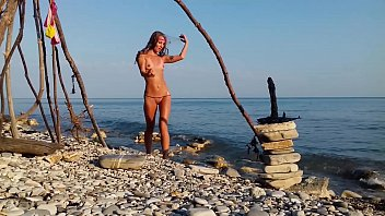 COMPILATION TRAVEL NUDE - RUSSIAN SLUT NUDIST GIRL SASHA BIKEYEVA