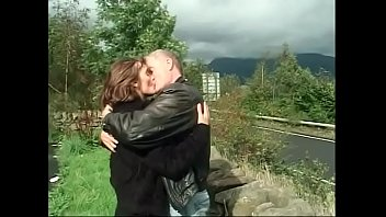 Hot brunette Melonie likes to fuck with aged man pretty well outdoors