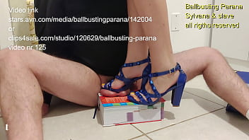 Hard stomp in book, barefoot stomp in floor and hard cum