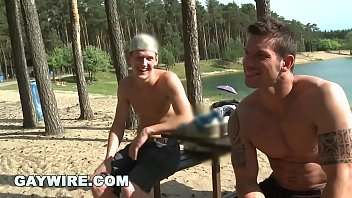 Gaywire - Hot Gay Studs Marek And Rickyy Bareback Fuck Out In Public!