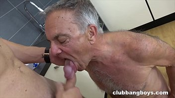 Senior gay fuck - Super old grandpa gets young boy to lick his ass and penetrate ass