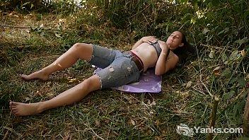 Busty Michelle Masturbating Outdoors 12 min