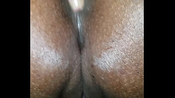 Playing with ebony bbw asshole and pussy