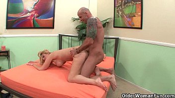 Blonde soccer mom Brooklyn Bailey makes her cuckold hubby watch preview image