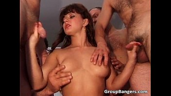 Live group sex action with horny