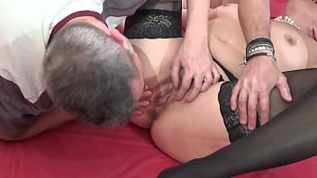 Mature wife fucks with her husband and friend – Part.2
