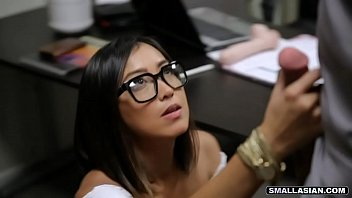 Asian pussy at the office