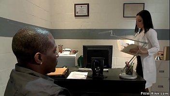 Black prisoner overpowers hot doctor