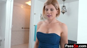 Step mom sucks her stepson's cock before going out on a date with another man