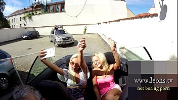Ready? Cabrio Fun, This is what we live for, Best Summer, Young Blonde Exhibitionists ready for a ride