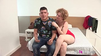 Bueaty big tits Mercé the big titted milf is going to show shy jose what fucking really is