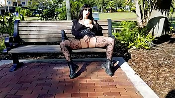 Public Masturbation Squirting Shameless Goth Slut