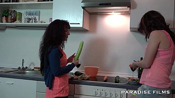 In film lesbian - German lesbians making out in the kitchen
