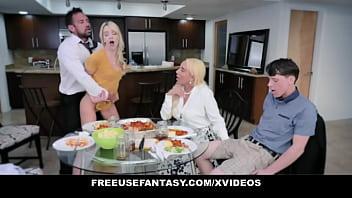 Free Use Family Porn - Fucked Hard While Trying to Eat Dinner - FreeUse Fantasy (Kylie Kingston) (Kenna James) porno izle